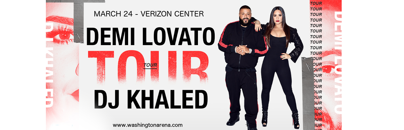 Demi Lovato & DJ Khaled at Verizon Center