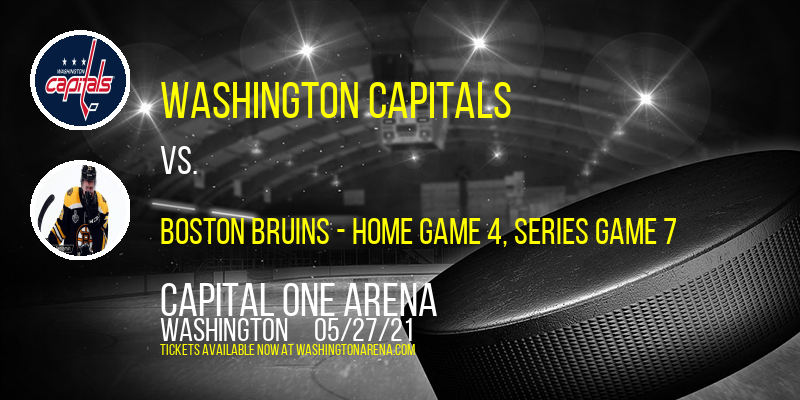 NHL East Division First Round: Washington Capitals vs. TBD - Home Game 4 (Date: TBD - If Necessary) [CANCELLED] at Capital One Arena