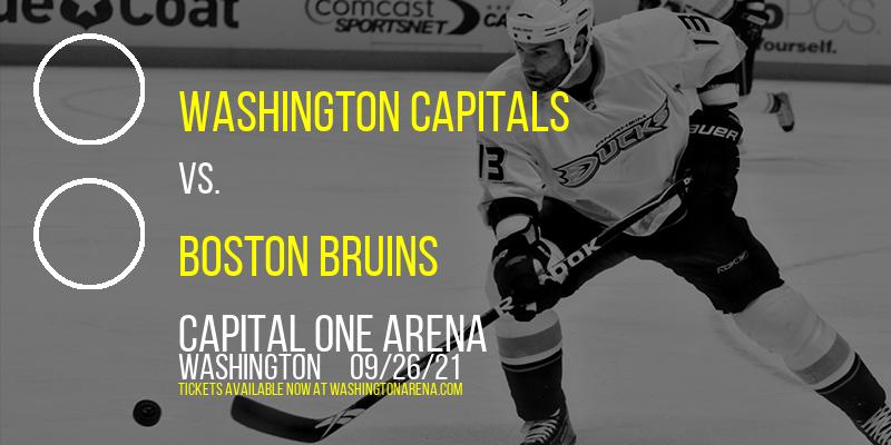 NHL Preseason: Washington Capitals vs. Boston Bruins at Capital One Arena